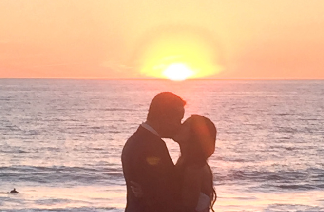 Sunset Kiss at Scripps Seaside Forum