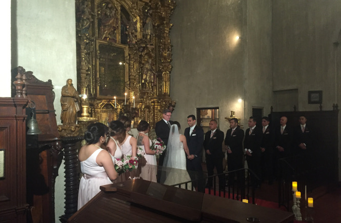 Ceremony at The Mission Inn Hotel