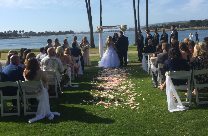 Ceremony at The Dana on Mission Bay