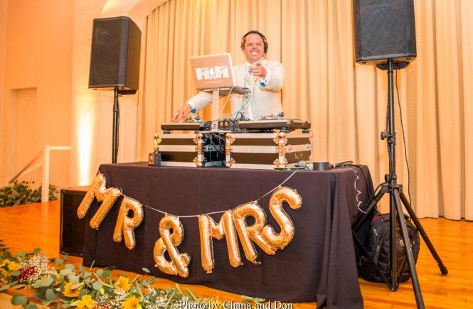 DJ Set Up at La Jolla Woman's Club