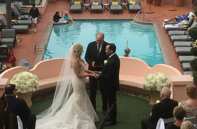 A Ceremony at La Valencia Hotel